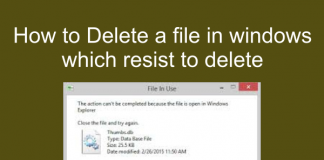 How to delete a file in windows which resist to delete