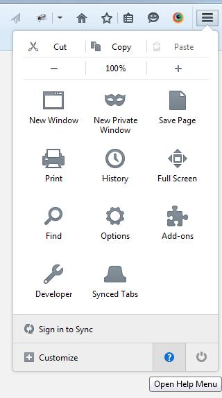Reset Firefox Option