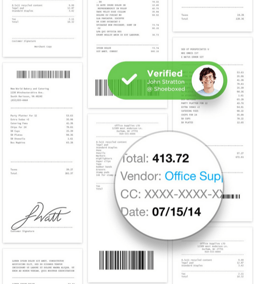 Shoeboxed - painless Receipt Scanning