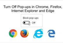 Turn On Off Pop-ups in Chrome, Firefox, Internet Explorer, Edge Browsrs