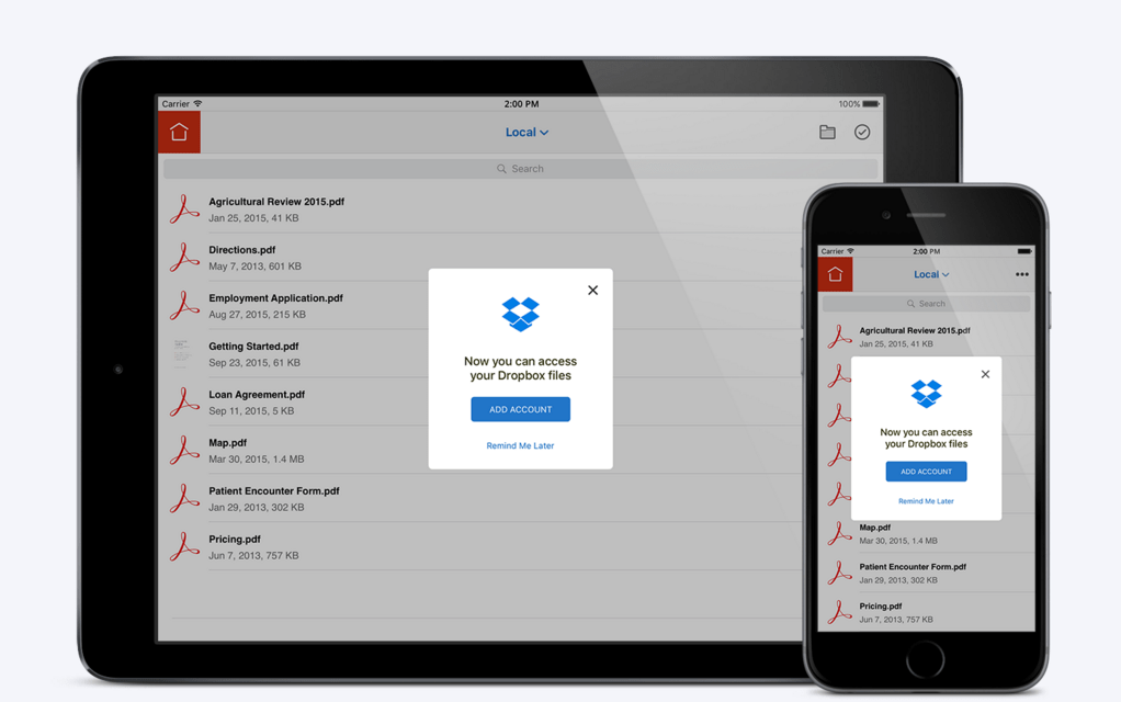 Pdf Files now on the go with Dropbox