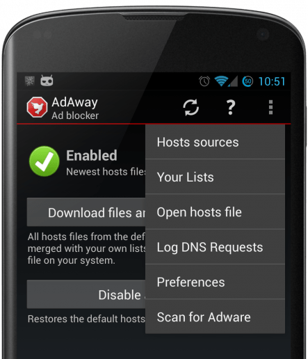 AdAway Android Adblocking App