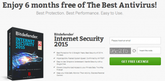 Bitdefender IS 180 days free license download