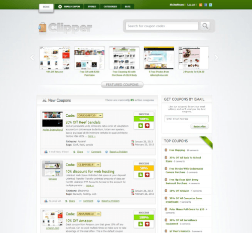 Clipper WP coupon theme