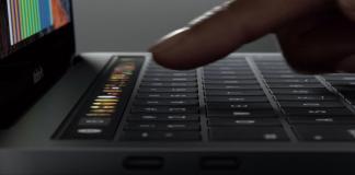Mac book pro touch bar