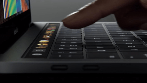 Mac book pro touch bar